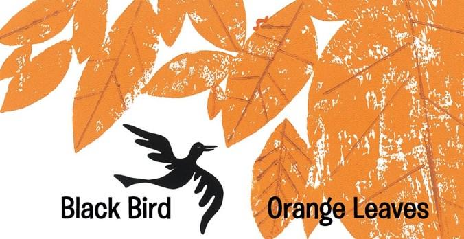 black bird orange leaves